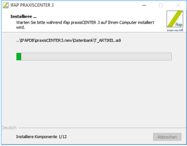 ifap Praxiscenter Installation 8