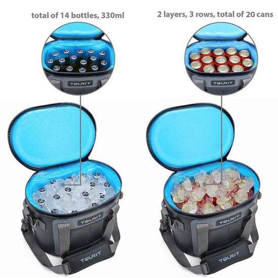TOURIT Voyager soft cooler capacity