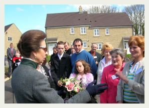 Royalty Visits The Paddock