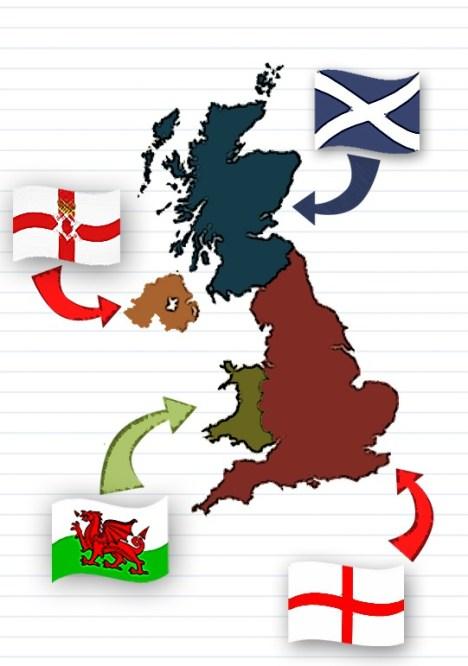 1801 Οι Ιρλανδία – Μεγ. Βρετανία – Σκωτία – Αγγλία σχηματίζουν το Ηνωμένο Βασίλειο.
