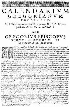 1700 Οι Προτεστάντες της Δυτικής Ευρώπης (εξαιρουμένης της Αγγλίας) αρχίζουν να χρησιμοποιούν το Γρηγοριανό ημερολόγιο.