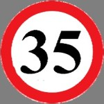 Area of restricted speed: speeds exceeding that indicated on the  sign in kilometres