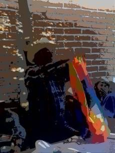 bandera de la unidad indoamericana en Mesa Colorada