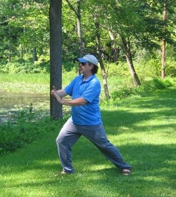 """""""Stan practicing on the towpath"""""""