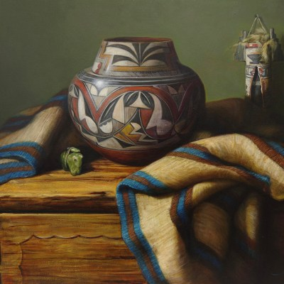 """Acoma Jar"" by William Martin 24""x30"""