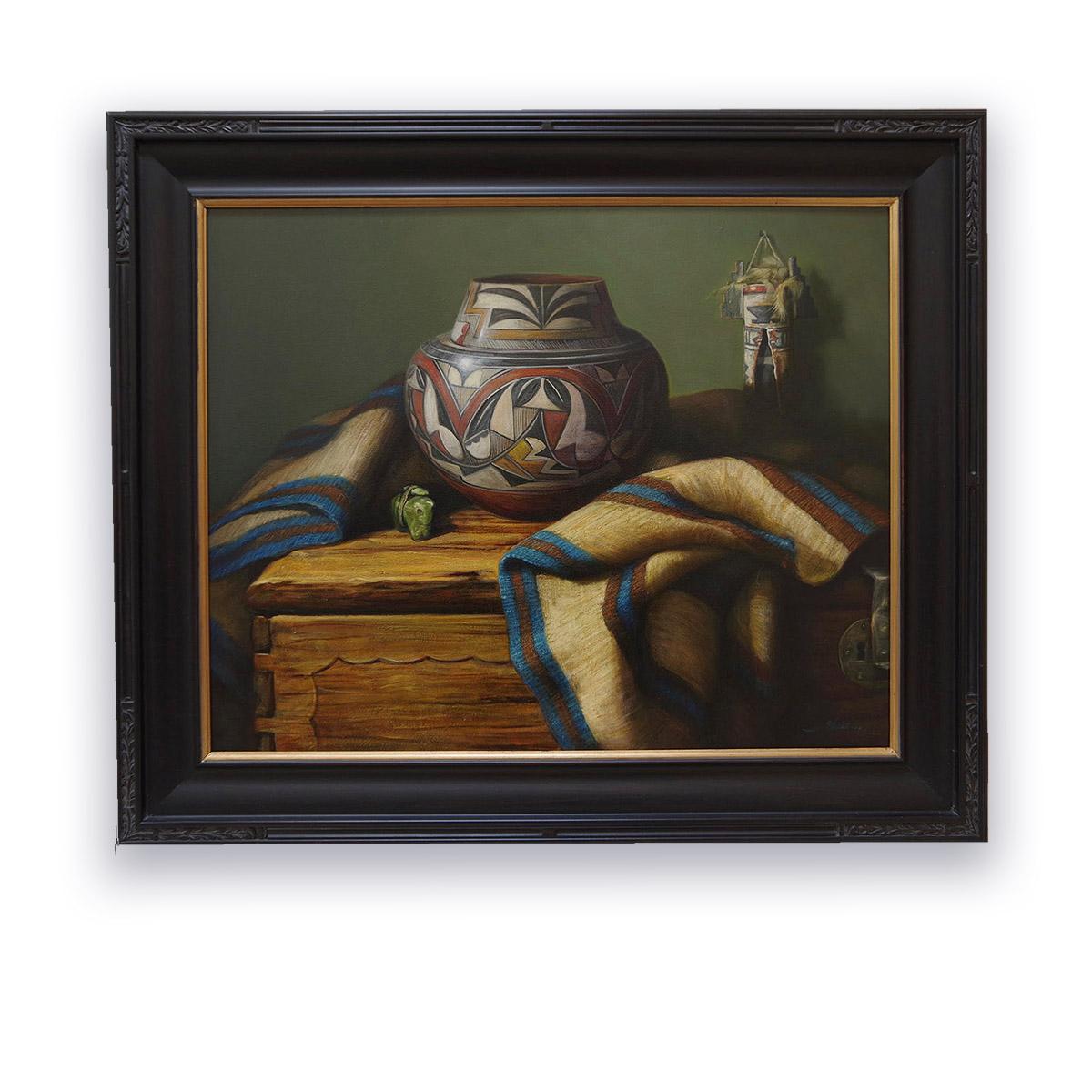 """Acoma Jar"" by William Martin 24""x30"""