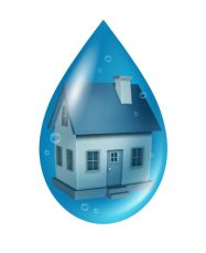 House in a water drop