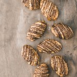Chocolate-Drizzled Pecan Macaroons