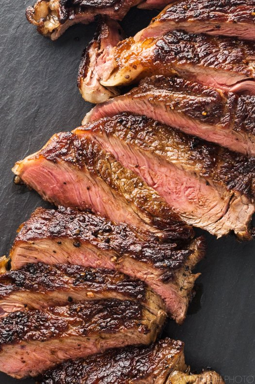 Cast Iron Steak Close-Up | Amy Roth Photo