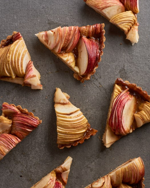 Slices of Salted Caramel Apple Tart