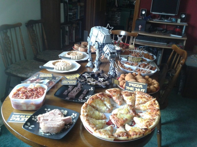 Star Wars Day Party food / buffet