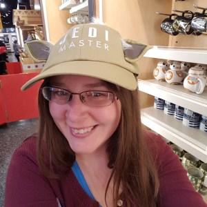 Girl in Yoda cap