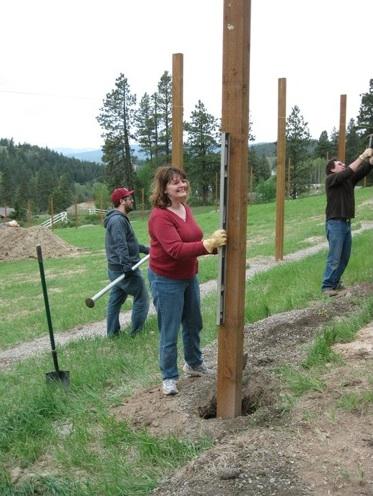 Audrey Jim Lucas fence posts
