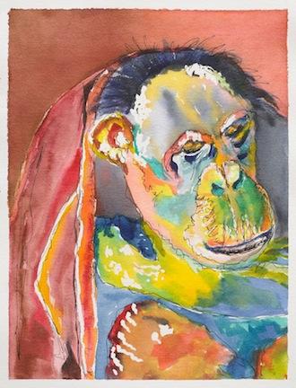 Negra watercolor by Margaret Parkinson