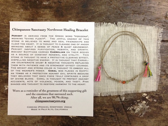 Atomic Gardent Chimpanzee Healing Bracelet