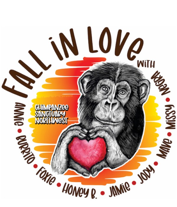 Fall in Love with Chimpanzee Sanctuary Northwest yellow