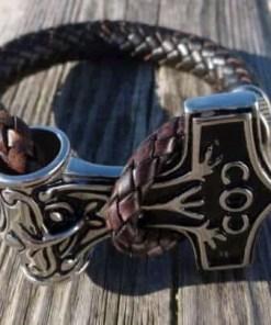 Bolo Lederarmband 10mm Thors-Hammer