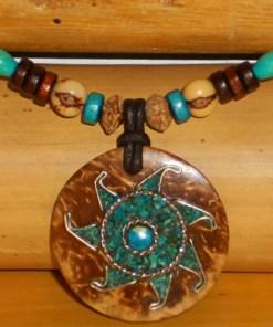 Indianerkette Sonne Inka Lederkette