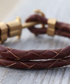 Lederarmband Anker Maritim Sylt-Armband
