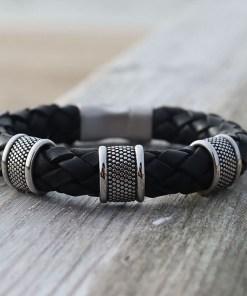 Lederarmband Herrenarmband 10mm Männerarmband