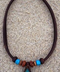 Indianer Halskette Türkis Stein Urubamba