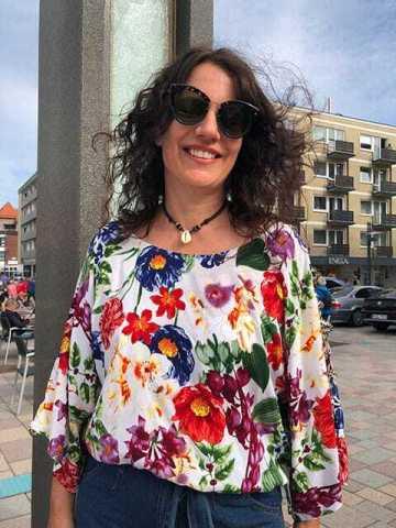 Lederkette Perlmutt Muschel Halskette
