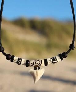 Zahnkette Herrenkette Haizahnkette Damenkette