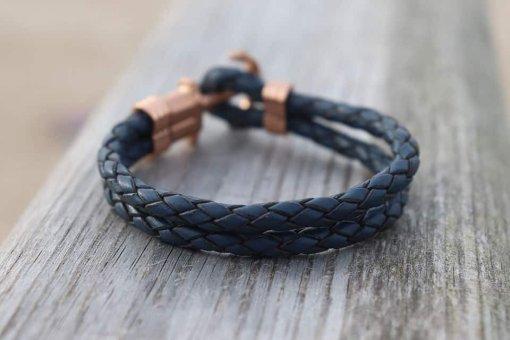 Ankerarmband Blau Anker Sylterarmband