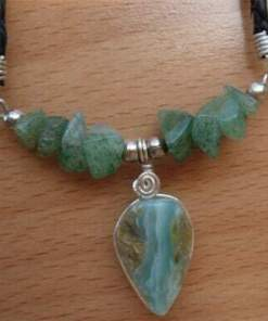 Geflochten Lederkette Anden Opal