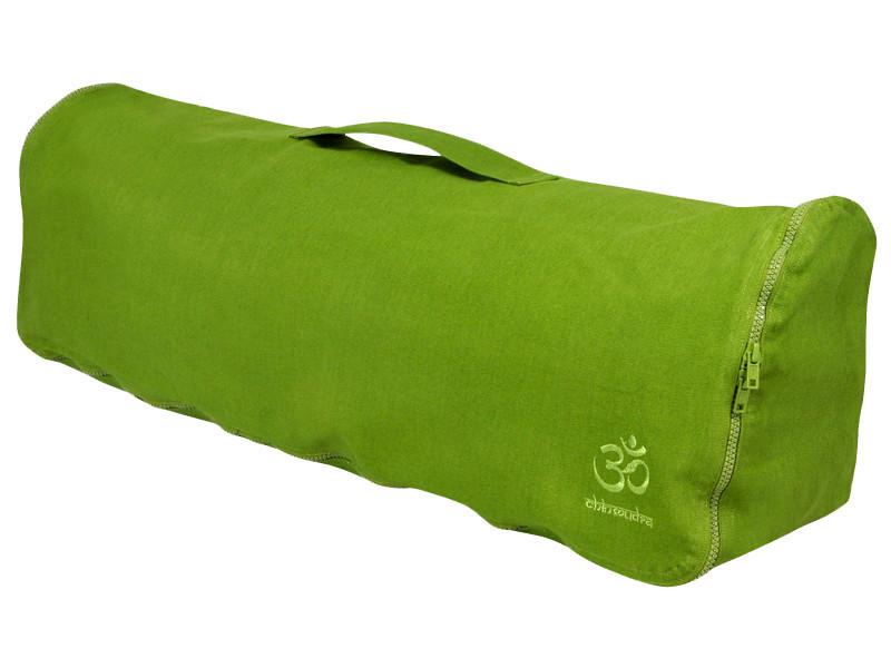sac a tapis de yoga chic et cool 100 coton bio 70cm x 17cm vert