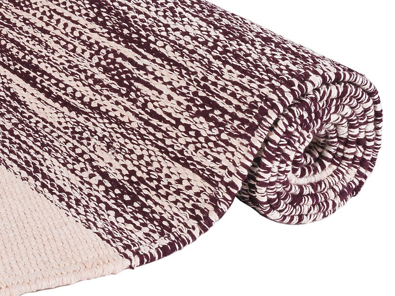 tapis de yoga taj 100 coton bio sans caoutchouc 2 m x 66 cm x 5mm prune ecru