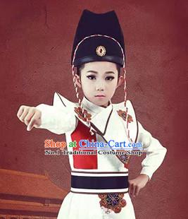 Ancient Korean Emperor Dragon Costumes and Hat Set