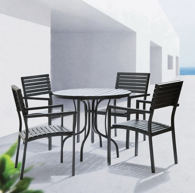 cast aluminum patio dining sets for 4