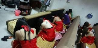 prostitution raid in China
