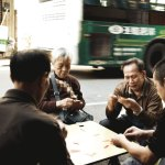 old-people-playing-cards-Xiamen pictures