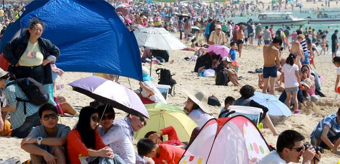 Sanya beach Hainan Island China