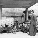 images of a funeral parlor in China in 1948