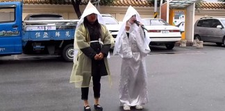 bizarre videos of professional mourning in Taiwan