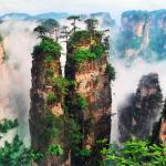 beautiful images of Zhangjiajie National Park in Hunan, China