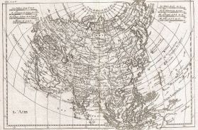 Raynal and Bonne Map of Asia