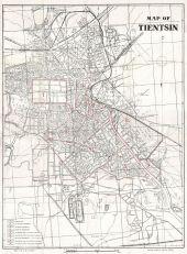 1941 Peiyang Map of Tientsin or Tianjin, China