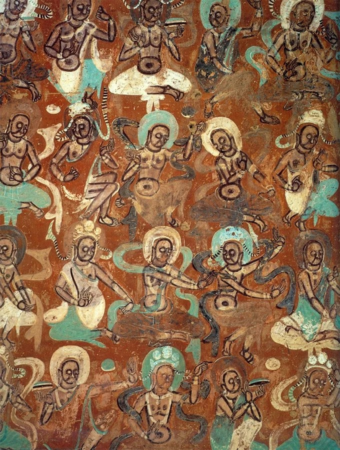 Devas. Dunhuang mural. Cave 272, Northern Liang dynasty.