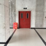 A door is seen at an empty area inside of Hongxiang Building, which houses an incubator for high-tech start-ups, in Shacheng
