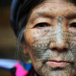 rare images of the last tattooed women of China dulong derung China Nujiang