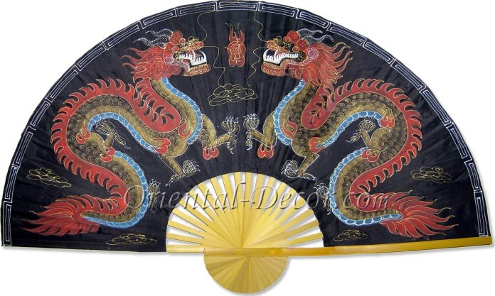 Chinese Wall Fans Black Dragons