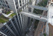 highest overpass in the world connecting two buildings