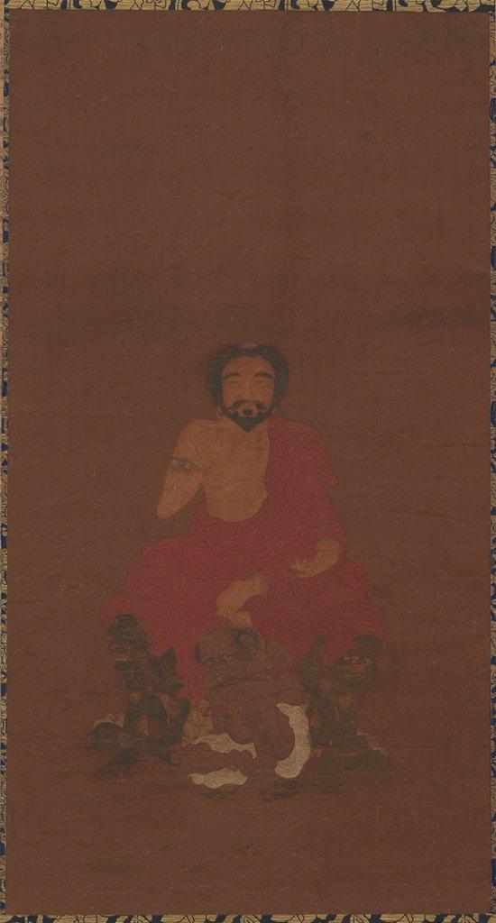 Sakyamuni Seated Upon Three Demon-like Creatures