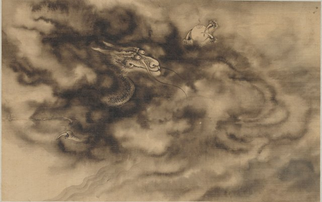 Dragons in clouds