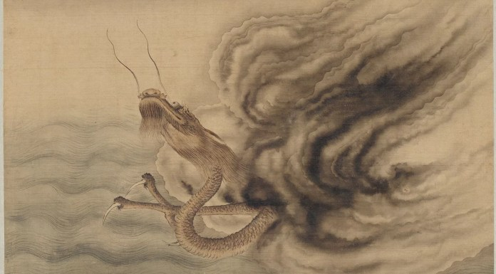 Chinese dragons - Dragons in clouds