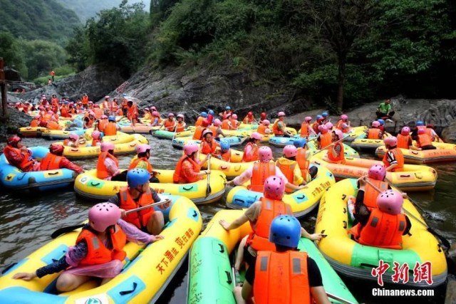 rafting in China